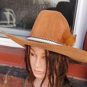 Vintage Boho suedette cowboy hat